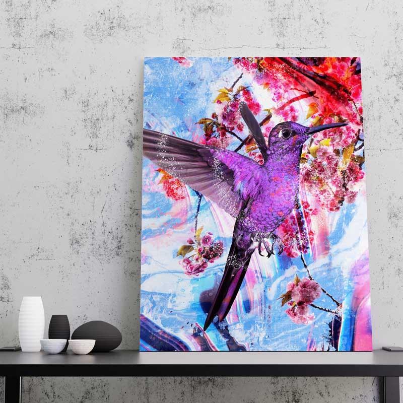 toile colibri oiseau