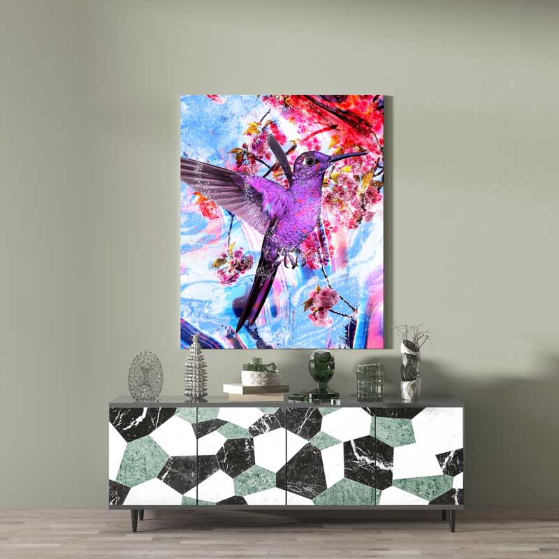 tableau colibri pop art