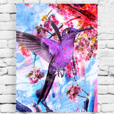 tableau colibri pop art oiseau tableau animaux oiseau colibri toile cadre poster colibri decoration colibri oiseau