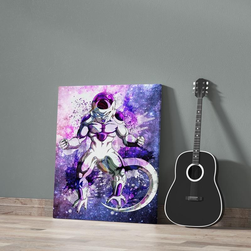 tableau freezer geek dbz dragon ball z poster toile cadre freezer dbz geek cadeau