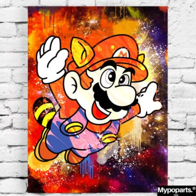 tableau poster toile mario