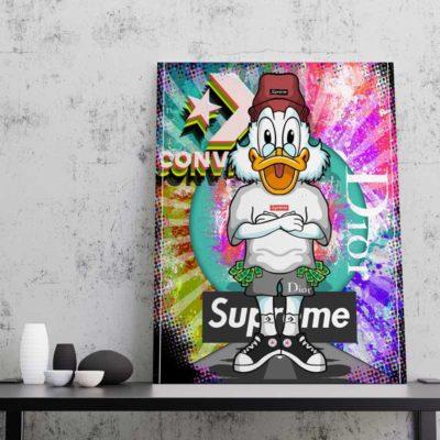 tableau cadre toile picsou decoration geek cadeau picsou pop art deco